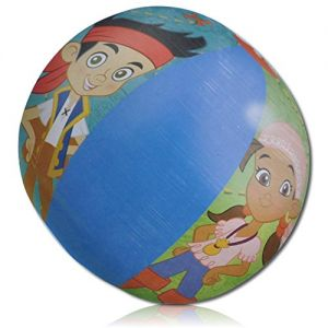 """ULTRA Durable & Custom {13.5"""" Inch} 5 Pack of Mid-Size Inflatable Beach Balls for Summer Fun, Made of Lightweight FLEX-Resin Plastic w/ Smile Jolly Happy Novelty Disney Boy & Girl Pirates {Multicolor}"""