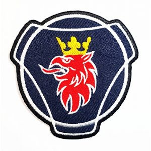 SAAB SCANIA Automobiles Cars Trucks Busses Sweden Band Logo Patch Sew Iron on Embroidered Badge Sign Costume Gift