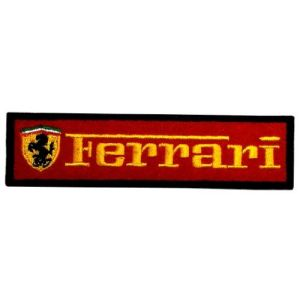 "1"" x 4"" Ferrari Sports Cars Motorsport Racing Team DIY Embroidered Sew Iron on Patch"