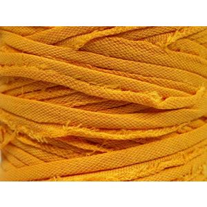 """Fabulous Crafts {87 Total Yards / 400g} 1 Cone Pack of Durable"""" Size 6 Super Bulky Chunky Thick Roving"""" Yarn for Knitting, Crochet & More, Made of 95% Cotton & 5% Elastan w/Handbag Yarn St {Gold}"""