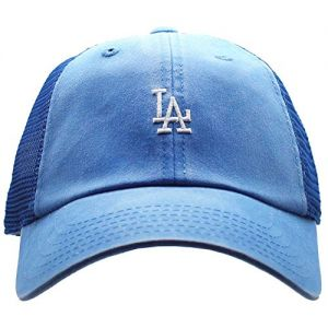 American Needle Los Angeles Dodgers Raglan Bone Micro Hat, Faded Blue