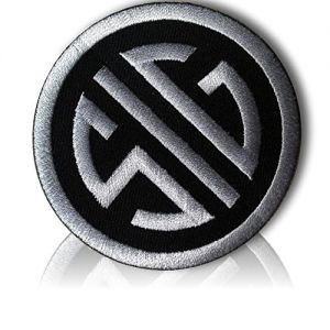 "[Single Count] Custom and Unique (3"" Inch) Circular SIG Sauer Firearms Tactical Morale Pro-Arms Political Gear Badge Costume Design (Funny Comedy) Hook Fastener Patch {Silver & Black} {LICENSED}"