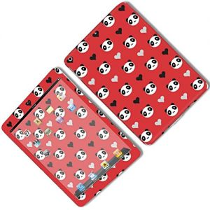 Red, Black, and White {Panda and Heart} Front and Back Full Body Adhesive Vinyl Decal Sticker for iPad Mini 1st Generation Models A1432, A1454 and A1455 (No Air Bubbles - Removable Residue Free Skin}
