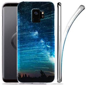 Galaxy S9 Case, ZUSLAB Nebula Pattern Design, Slim Flexible Shockproof TPU, Soft Rubber Silicone Glossy Skin Cover for Samsung Galaxy S9, 2018 (Nebula A3)