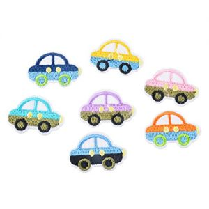 Loweryeah Mixed Multicolor Embroidered Cars Applique Sew Iron On Applique Patches 2.4x3.3cm 7Pcs