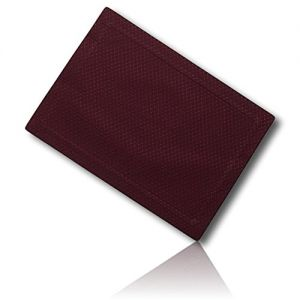 """Unique & Custom {13"""" x 19"""" Inch} Single Pack Rectangle """"Smooth Texture"""" Large Reversible Table Placemats Made of Washable Genuine Flexible Microfiber w/ Quilted Sew In Amethyst Shade Design [Maroon]"""