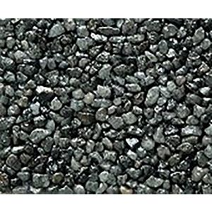 "Safe & Non-Toxic {Small Size, 0.12"" Inch} 3 Pound Bag of Gravel & Pebbles Decor Made of Genuine Quartz for Freshwater Aquarium w/ Shimmering Simple Trendy Smooth Natural River Style [Gray]"