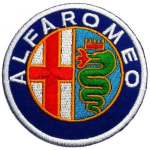 "2.7"" x 2.7""Alfa Romeo Motorsport Car Racing Team DIY Applique Embroidered Sew Iron on Patch"
