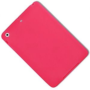 """Fuchsia Pink {Simple Matte Plain} Soft and Smooth Silicone Cute 3D Fitted Bumper Back Cover Gel Case for iPad Mini 1, 2 and 3 by Apple """"Durable and Slim Flexible Fashion Cover Design"""""""