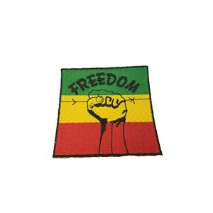 One Love Africa Rasta Rastafari Hand Freedom Peace Fighter Freedom Iron on Patche