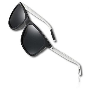 1 Single Pair Of Silver & Black Men's Aluminium Polarized Colored Sunglasses w/Resin Lens Driving Outdoor Fishing Eye