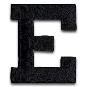 """1 7//8/"""" Black Monogram Block letter W Embroidery Patch"""