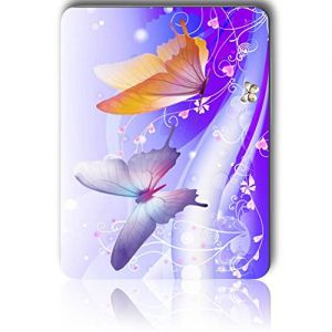 """Custom & Decorative {8.5"""" x 7"""" Inch} 1 Single, Mid-Size """"Basic"""" Flexible Non-Slip Mousepad for Gaming, Made Of Easy-Glide Lycra Spandex w/ Classic Vibrant Lavender Butterfly Dream Style[Multi-colored]"""