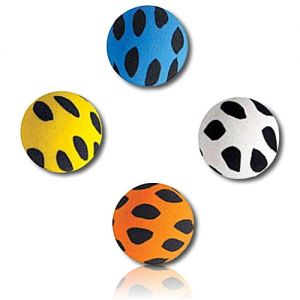 Custom & Unique {27mm} 250 Bulk Pack, Mid-Size Super High Bouncy Balls, Made of Grade A+ Rebound Rubber w/ Mosaic Spotted Splotchy Dotted Polk-a-Dotted Patchy Blotchy Dappled Flecked Spot (Multicolor)