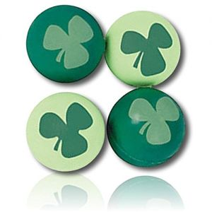 Custom & Unique {25mm} 1 Dozen, Small Size Super High Bouncy Balls, Made of Grade A+ Rebound Rubber w/ Festive Holiday Irish St Patrick's Day Leafed Clover Shamrock Toy Style (Dark & Light Green)