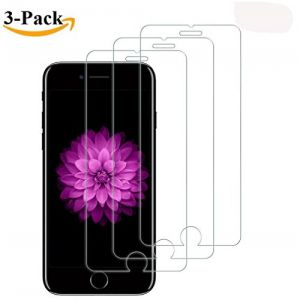 iPhone6/6S/7/8Plus QIANXIANG Screen Protector Tempered Glass,[5.5inch][3 Pack]by [No Bubbles][3D Touch Compatible][HD Ultra Clear Oil and Scratch Coating]