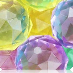 Custom & Unique {32mm} 1000 Bulk Pack, Mid-Size Super High Bouncy Balls, Made of Grade A+ Rebound Rubber w/ Diamond Shaped Cut Shiny Polished Icy Frosted Jewel Brilliant (Blue, Pink, Green & Yellow)