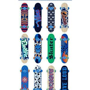 """Custom & Decorative { 3"""" Inch} 12 Piece Pack of Mid-Size Stickers for Arts, Crafts & Scrapbooking w/ Colorful Bright Skateboarding Rad Vibes Gnarly Deck Patterns {Multicolor}"""