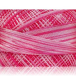"""Fabulous Crafts {1638 Total Yards / 300g} 6 Cakes Pack of Durable"""" Size 0 Lace Weight Fingering"""" Yarn for Knitting, Crochet & More, Made of 100% Micro Fiber w/Tulip Style {Light Pink & Pink Shades}"""