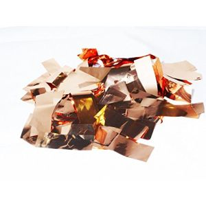 """mySimple Products Custom & Fancy {2.5"""" x .75"""" Inch} 1 Lb of Large Rectangle """"Throwing"""" Party Confetti Made of Premium Metallic Foil w/ Shiny Burnished Design [Copper]"""