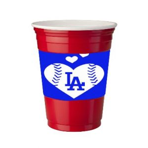 4 Pack of Vinyl Decal Stickers for Disposable Cups / Go Dodgers We Love LA