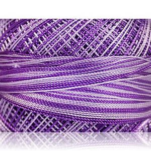 """Fabulous Crafts {1638 Total Yards / 300g} 6 Cakes Pack of Durable"""" Size 0 Lace Weight Fingering"""" Yarn for Knitting, Crochet & More, Made of 100% Micro Fiber w/Wild Prairie Flower Sty {Lilac Shades}"""