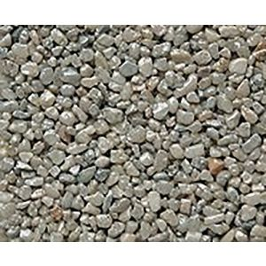 "Safe & Non-Toxic {Small Size, 0.12"" Inch} 10 Pound Bag of Gravel & Pebbles Decor Made of Genuine Quartz for Freshwater Aquarium w/ Smooth River Inspired Simple Natural Shimmering Earthy Style [Gray]"
