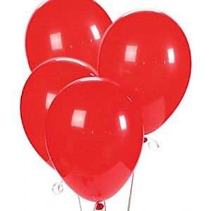 "Custom, Fun & Cool {Big Large Size 12"" Inch} 25 Pack of Helium & Air Latex Rubber Balloons w/ Modern Simple Celebration Party Special Event Decor Design [In Bright Red]"