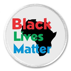 "Black Lives Matter (Africa) 3"" Sew On Patch"