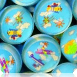 Custom & Unique {27mm} 1000 Bulk Pack, Mid-Size Super High Bouncy Balls, Made of Grade A+ Rebound Rubber w/ Suns Clouds Hot Air Balloons Airplanes Aircraft Airship Plane Flying Soaring (Multicolor)