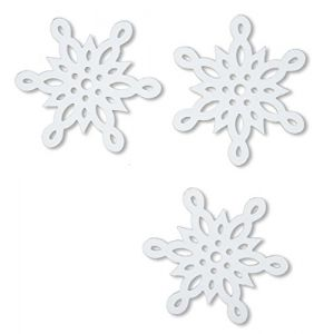 """Custom & Fancy {2"""" x 2"""" Inch} Approx 20 Pieces of Large """"Table"""" Party Confetti Made of Premium Card Stock w/ Winter Holidays Cold Snow Pretty Snowflake Shape Scatter Crafts Topper Design [White]"""