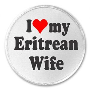 "A&T Designs I love my Eritrean Wife 3"" Sew On Patch Eritrea Africa"