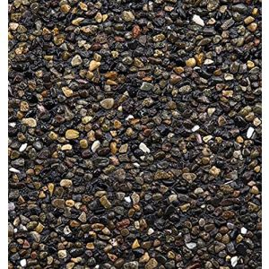 Safe & Non-Toxic {Various Sizes} 20 Pound Bag of Gravel & Pebbles Decor for Freshwater Aquarium w/ River Inspired Smooth Natural Simple Modern Earthy Shimmering Style [Black, Brown & Tan]