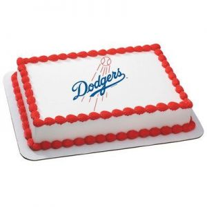 Los Angeles Dodgers Licensed Edible Cake Topper #4651