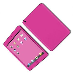 Hot Pink {Simple Plain Modern} Front and Back Full Body Adhesive Vinyl Decal Sticker for iPad Mini 1st Generation Models A1432, A1454 and A1455 (No Air Bubbles - Removable Residue Free Skin}