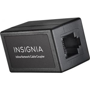 InsigniaTM - Cat-5/5e RJ-45 In-Line Coupler - Black