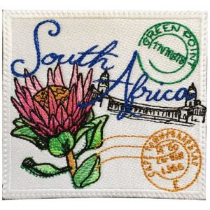 South Africa Stamp Embroidered Sew on Patch