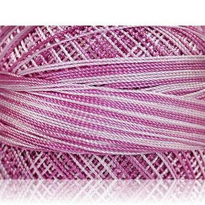 """Fabulous Crafts {1638 Total Yards / 300g} 6 Cakes Pack of Durable"""" Size 0 Lace Weight Fingering"""" Yarn for Knitting, Crochet & More, Made of 100% Micro Fiber w/Conch St {Light Lilac & Purple Shades}"""