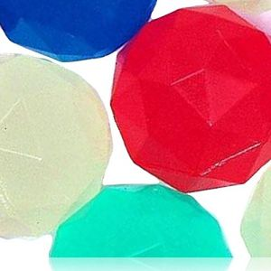 Custom & Unique {32mm} 2000 Bulk Pack, Mid-Size Super High Bouncy Balls, Made of Grade A+ Rebound Rubber w/ Diamond Shaped Cut Shiny Polished Frosted Iced Jewel Brilliant Chilled Bright (Multicolor)