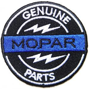 Mopar Genuine Parts Patch Iron on Sewing Embroidered Applique Logo Badge Sign Embelm