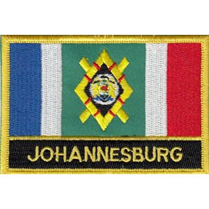 Johannesburg South Africa Flag Embroidered Blazer Badge Patch