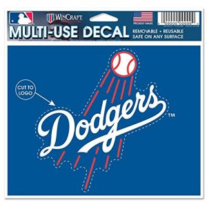 "WinCraft MLB Los Angeles Dodgers 08134015 Multi-Use Decal, 4.5"" x 5.75"", Black"