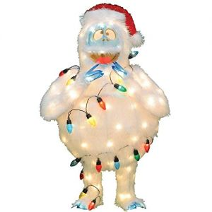 ProductWorks 32-Inch Holiday Décor Rudolph Pre-Lit Christmas Yard Art with 80 Lights, Bumble