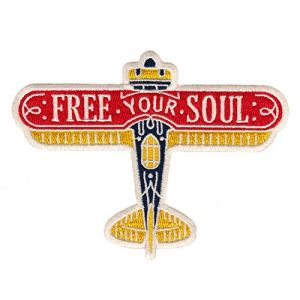 Asilda Store Free Your Soul Embroidered Sew or Iron-on Patch