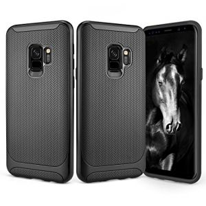 Galaxy S9 Case, Besiva Ultra Thin & Light Reinforced Frame Durable Shock-Absorptio Flexible Soft TPU Bumper Hybrid Protective Case for Galaxy S9