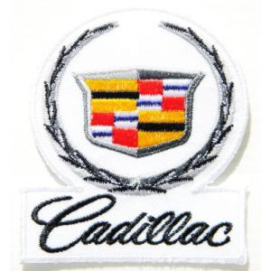 Cadillac Logo Sign Car Truck Racing Patch Iron on Applique Embroidered T shirt Jacket BY SURAPAN