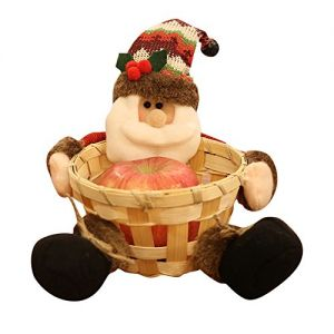 Hot Sales!! ZOMUSA Candy Storage Basket Decoration Santa Claus Storage Basket Christmas Gift (3~A)