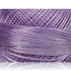 """Fabulous Crafts {1638 Total Yards / 300g} 6 Cakes Pack of Durable"""" Size 0 Lace Weight Fingering"""" Yarn for Knitting, Crochet & More, Made of 100% Micro Fiber w/Mimosa Light Shade Style {Light Lilac}"""