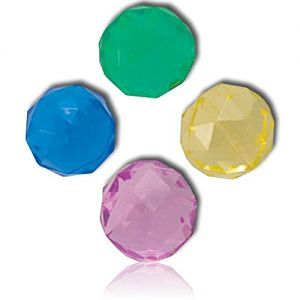 Custom & Unique {32mm} 2000 Bulk Pack, Mid-Size Super High Bouncy Balls, Made of Grade A+ Rebound Rubber w/ Diamond Shaped Cut Shiny Polished Icy Frosted Jewel Brilliant (Blue, Pink, Green & Yellow)