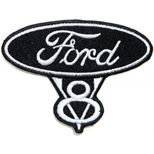 FORD V8 Vintage RACING Logo Sign Car Patch Iron on Applique Embroidered T shirt Jacket Costume BY SURAPAN